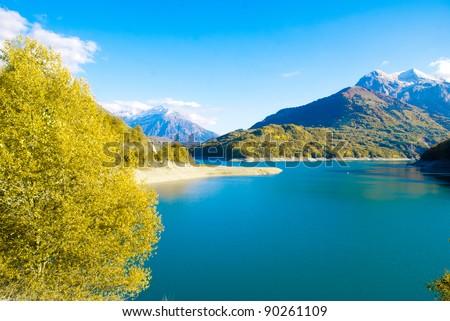 Lac de Sautet in Rhône-Alpes Province, France