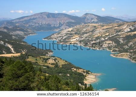 Lac de Serre-Poncon in French Alps #12636154