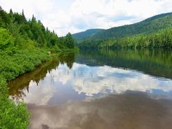 Lac-des-sables lake in Saint-Donat, Quebec, Canada.