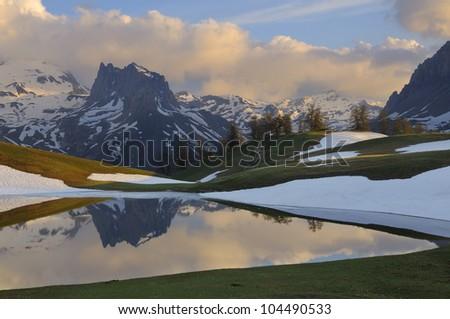 Lac des Thures - Chavillon - France Photo stock ©