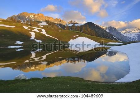 Lac des Thures or Chavillon Photo stock ©