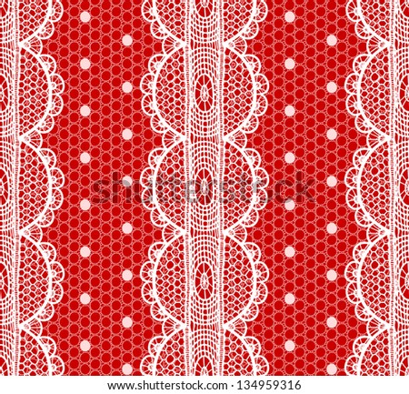 Lace and mesh seamless pattern. Raster. - stock photo