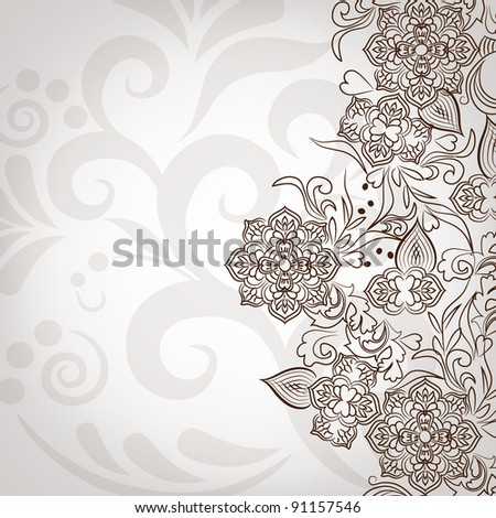 Lace pattern background - stock photo