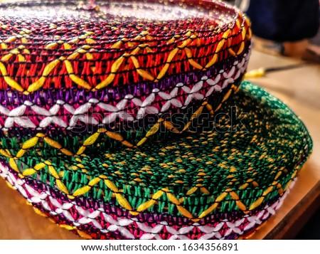 Lace strip of color color cloth.Color Color clothing design.