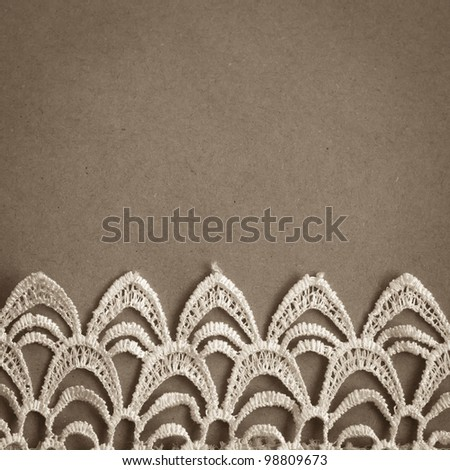 Lace trim vintage background with copy space
