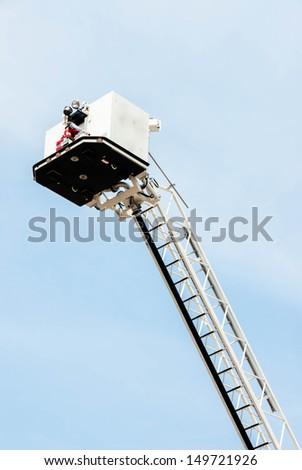 Ladder fire engine - stock photo