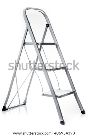 Ladder isolated .  metal ladder over white background #406954390