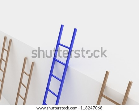 Ladder of success concept
