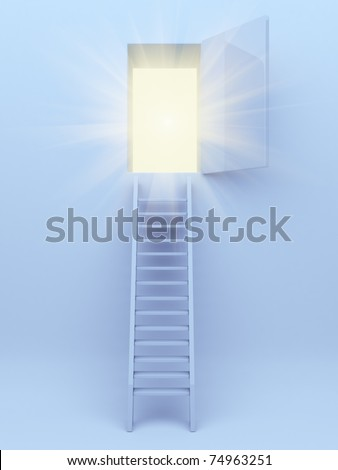 Ladder to success. 3d illustration