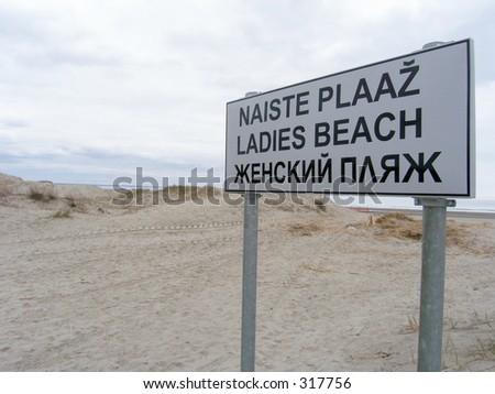Ladies beach sign in Pärnu