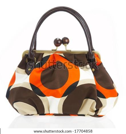 Ladies' handbag on a white background...