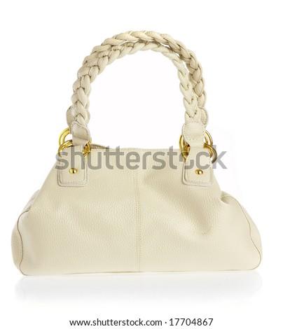 Ladies\' handbag on a white background...