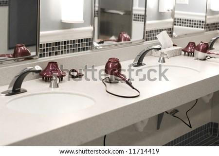 Ladies locker room and spa