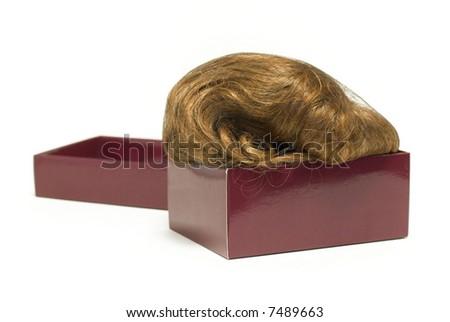 ladies wig in carton