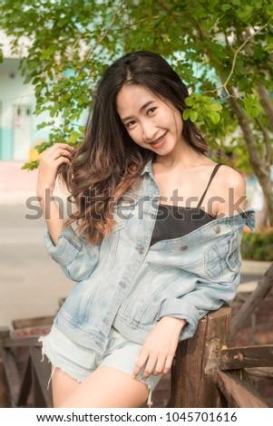 Lady Asian teen,Asian teen,Asian Teen With Bears Fashion #1045701616