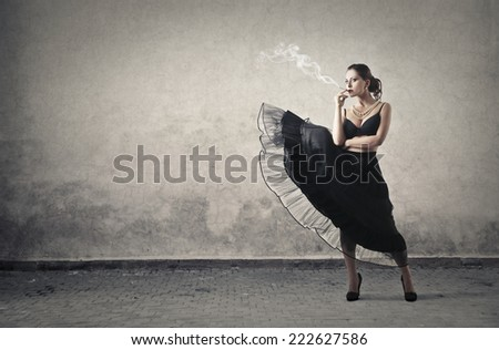 Lady in black  #222627586