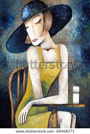 Lady in cafe