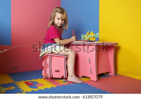 Lady in room