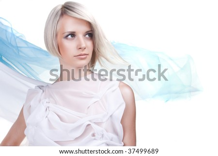 Lady in toga in air-like portrait