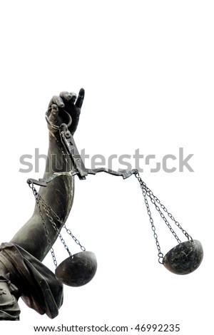 Lady Justice statue in Frankfurt.