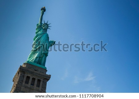 Lady Liberty, Statue of Liberty and clouds
