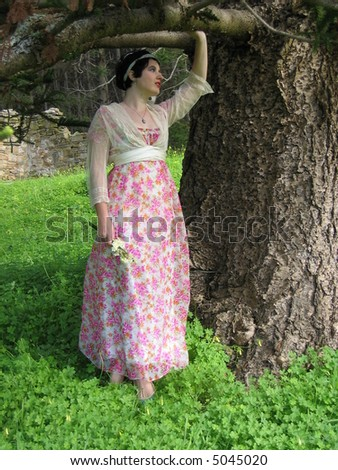 Lady under the tree