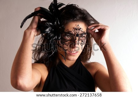 Lady with carnival mask