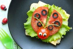 Ladybug sandwich creative and fun food for kids