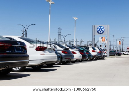 Lafayette - Circa April 2018:  Volkswagen Cars and SUV Dealership. VW is Among the World's Largest Car Manufacturers VIII