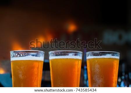 Lager beer or Craft beer in Restaurant #743585434