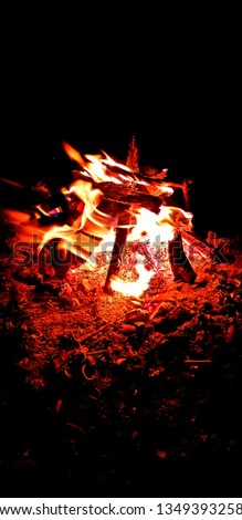 Lagerfeuer Feuer Camping Chillen Stockfoto ©