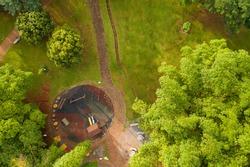 Lago das Rosas playground, Goiás, Brazil, seen from above