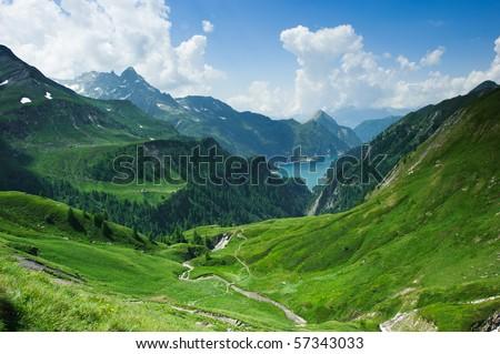 Lago di Luzzone, upper Blenio valley, Tessin, Switzerland