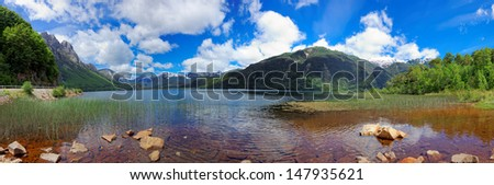 Lago las Torres, Chile, South America: Lago Las Torres is a national reserve of southern Chile's Aysen region. The reserve is traversed by the Carretera Austral.