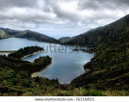 Lagoa do Fogo in S. Miguel island, Azores