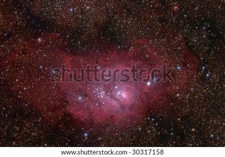 Lagoon (M8) nebula in Sagittarius constellation.