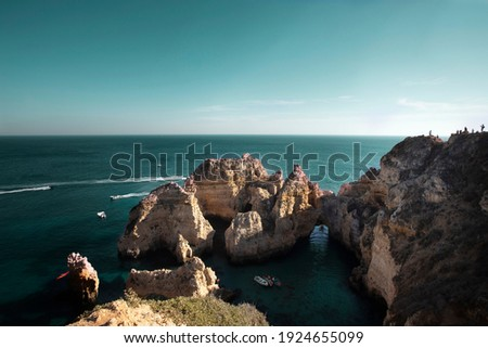 Lagos, costa do Algarve em Portugal Zdjęcia stock ©