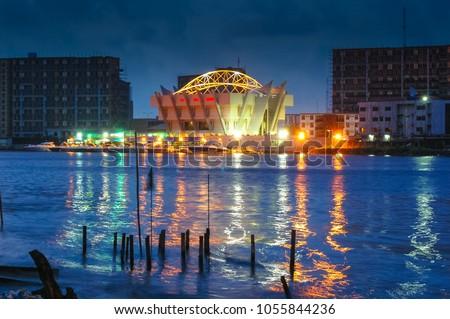 Lagos, Nigeria Skyline at Dawn #1055844236