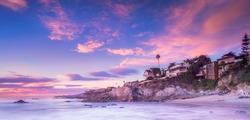 Laguna Beach, California at sunset