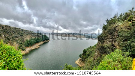 Laguna de tomine Colombia, beautiful and majestic view #1510745564