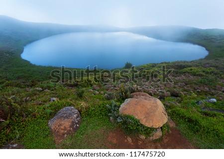 Laguna El Junco, island San Cristobal, Galapagos Islands, Ecuador