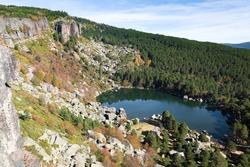 Laguna Negra lake in Soria province, Spain