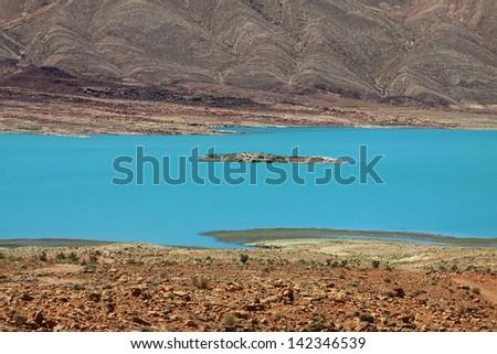Lake al-hassan addakhil in Errachidia Morocco