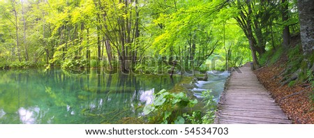 Lake and path from Plitvice