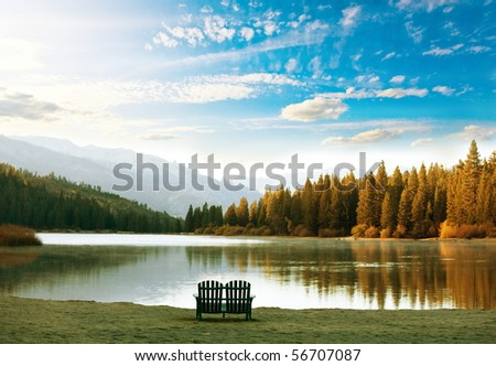 lake at dusk #56707087