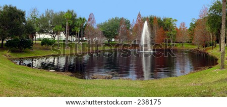 Lake at the grounds of UCF, Biomolecular Research Annex.\\ Research Pkwy, Orlando Fl 32826.