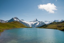 Lake Bachalpsee In Swiss Bernese Alps