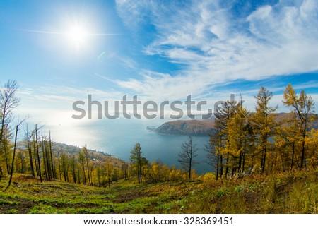 Lake Baikal,   stone, Listvyanka #328369451