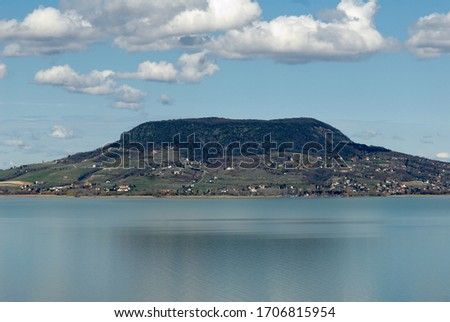 Lake Balaton is the largest lake in Hungary and Central Europe, with Badacsony volcano on the other side. Stock photo ©