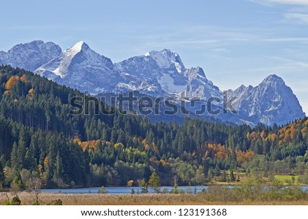 lake Barm and  Wetterstein mountains